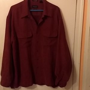 Men's long sleeved shirt (soft suede)